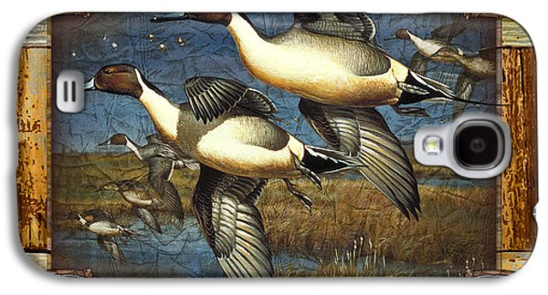 Cynthie Fisher Galaxy S4 Cases - Deco Pintail Ducks Galaxy S4 Case by JQ Licensing