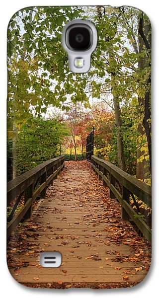 Photographs With Red. Galaxy S4 Cases - Decorate With Leaves - Holmdel Park Galaxy S4 Case by Angie Tirado