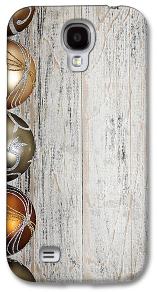 Festivities Galaxy S4 Cases - Decorated Christmas ornaments Galaxy S4 Case by Elena Elisseeva