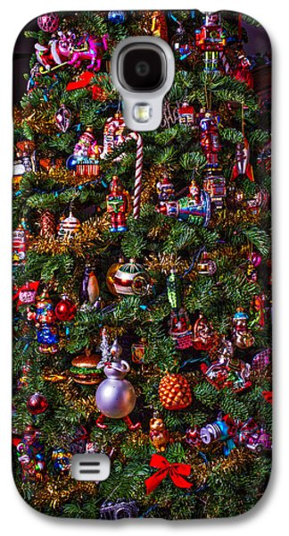 Decorate Galaxy S4 Cases - Decorated Christmas Tree Galaxy S4 Case by Garry Gay