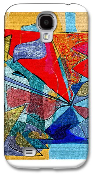Red Abstract Reliefs Galaxy S4 Cases - Decorative interior Art Abstract Galaxy S4 Case by Olga Sheyn