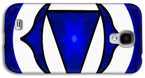 Inner Self Galaxy S4 Cases - Deep Blue Awareness Abstract Chakra Art by Omaste Witkowski Galaxy S4 Case by Omaste Witkowski