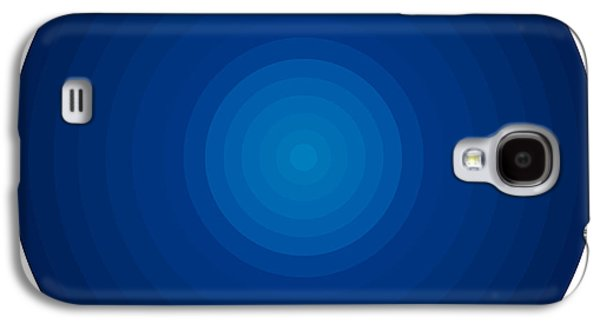 Blueish Galaxy S4 Cases - Deep Blue Circles Galaxy S4 Case by Frank Tschakert