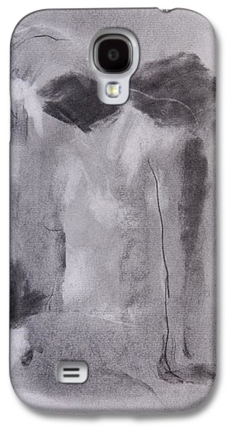Nudes Pastels Galaxy S4 Cases - Deep in thought Galaxy S4 Case by Janet Goddard