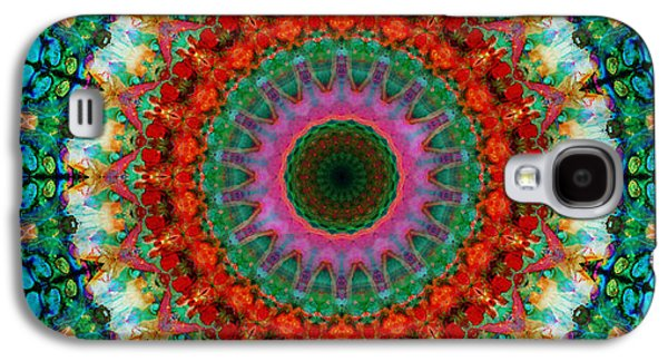 Deep Love - Mandala Art By Sharon Cummings Galaxy S4 Case by Sharon Cummings
