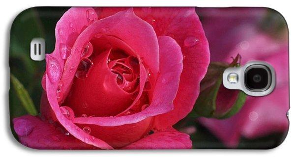 Garden Art Galaxy S4 Cases - Deep Pink Beauty Galaxy S4 Case by Rona Black