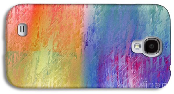 Abstract Digital Digital Galaxy S4 Cases - Deep Rich Sherbet Abstract Galaxy S4 Case by Andee Design
