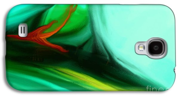 Abstract Digital Paintings Galaxy S4 Cases - Deep Sea Galaxy S4 Case by Anita Lewis