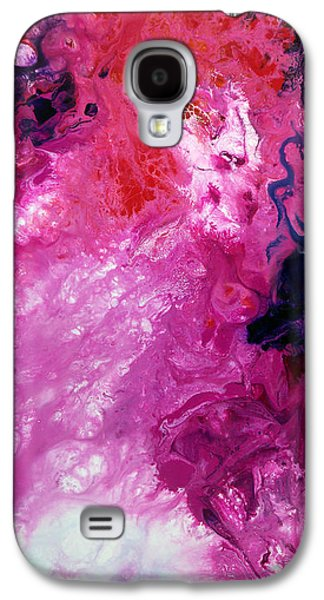 Constellations Paintings Galaxy S4 Cases - Deep Space Canvas Four Galaxy S4 Case by Sally Trace