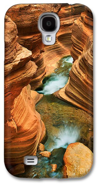 Splashy Galaxy S4 Cases - Deer Creek Slot Galaxy S4 Case by Inge Johnsson