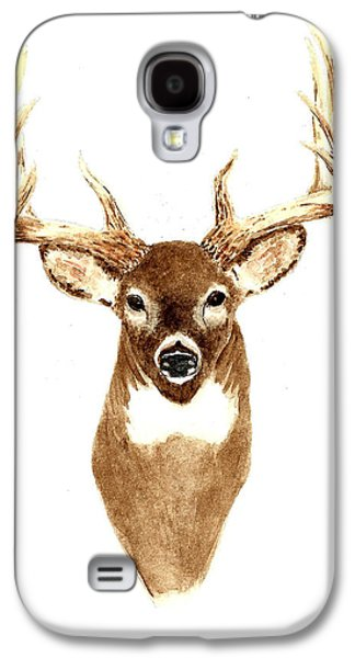 Deer - Front View Galaxy S4 Case by Michael Vigliotti