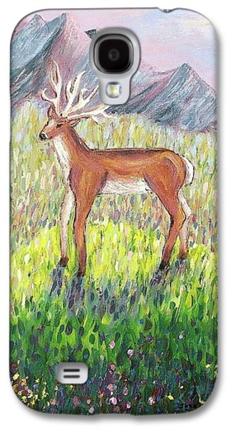 Leclair Galaxy S4 Cases - Deer In Field Galaxy S4 Case by Suzanne  Marie Leclair