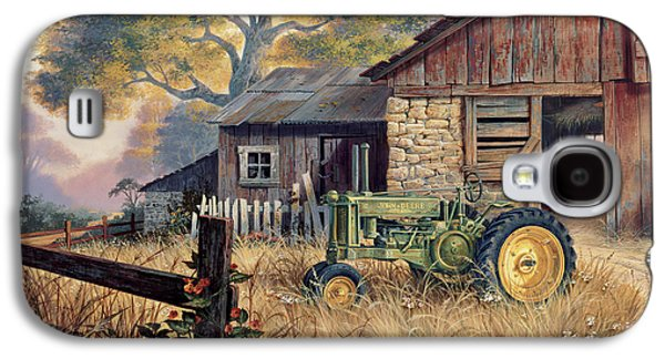 Country Paintings Galaxy S4 Cases - Deere Country Galaxy S4 Case by Michael Humphries