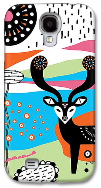 Tangerine Galaxy S4 Cases - Deery Me Galaxy S4 Case by Susan Claire