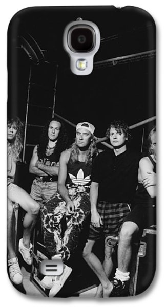 Def Leppard - Adrenalize Tour B&w 1992 Galaxy S4 Case by Epic Rights