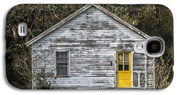 Screen Doors Galaxy S4 Cases - Defiant Yellow Door Galaxy S4 Case by Terry Rowe