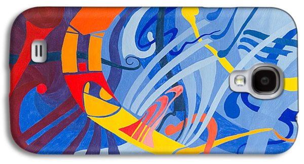 Macrocosm Paintings Galaxy S4 Cases - Defined Cosmos Galaxy S4 Case by Peter Hermes Furian