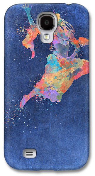 Abstract Movement Drawings Galaxy S4 Cases - Defy Gravity Dancers Leap Galaxy S4 Case by Nikki Marie Smith