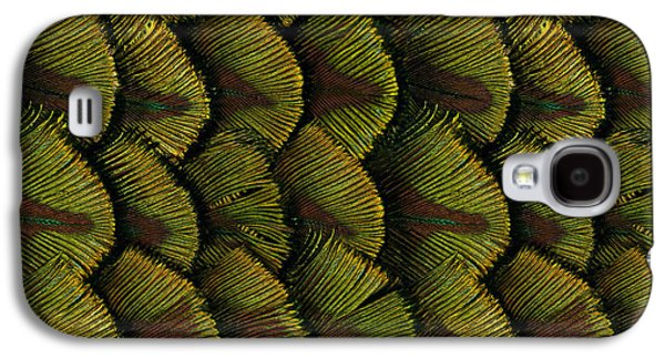 Digital Pyrography Galaxy S4 Cases - Delicate Feather Galaxy S4 Case by Bedros Awak