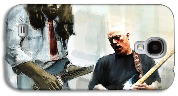 Street Drawings Galaxy S4 Cases - Delicate Sound of Brilliance IV  David Gilmour Galaxy S4 Case by Iconic Images Art Gallery David Pucciarelli