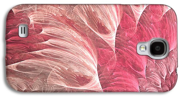 Fractal Art Galaxy S4 Cases - Delicately Galaxy S4 Case by Lourry Legarde