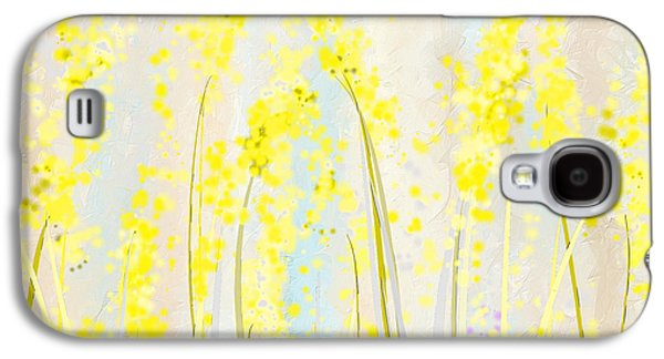 Delicately Soft- Yellow And Cream Art Galaxy S4 Case by Lourry Legarde