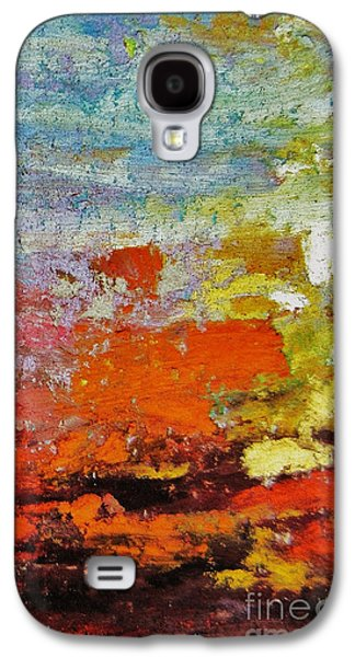 Orange Pastels Galaxy S4 Cases - Delirium Galaxy S4 Case by John Clark