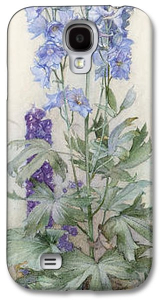 Botanical Galaxy S4 Cases - Delphiniums Galaxy S4 Case by James Valentine Jelley