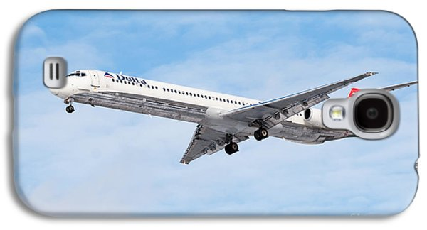 Airliner Galaxy S4 Cases - Delta Air Lines McDonnell Douglas MD-88 Airplane Landing Galaxy S4 Case by Paul Velgos