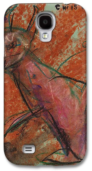 Person Pastels Galaxy S4 Cases - Demon Galaxy S4 Case by Christopher Winkler