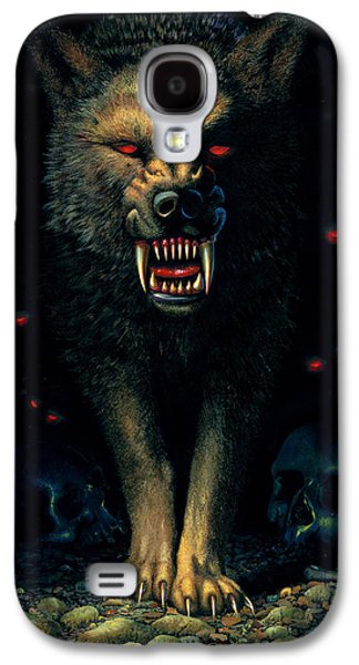 Demon Wolf Galaxy S4 Case by MGL Studio - Chris Hiett