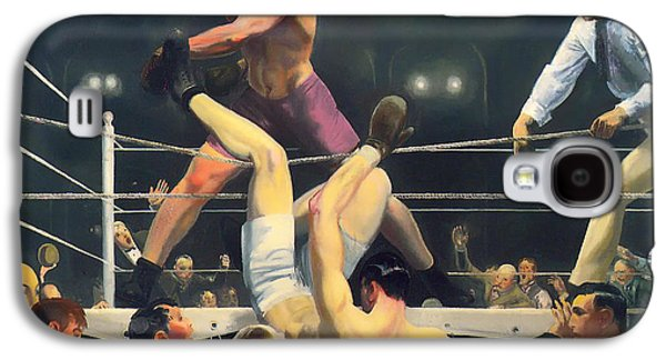 Boxer Galaxy S4 Cases - Dempsey and Firpo Galaxy S4 Case by Bellows