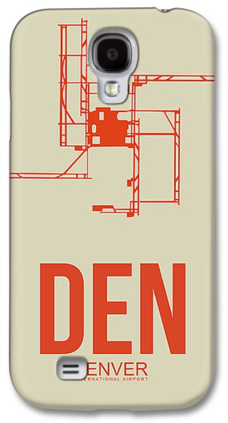 Town Mixed Media Galaxy S4 Cases - DEN Denver Airport Poster 2 Galaxy S4 Case by Naxart Studio