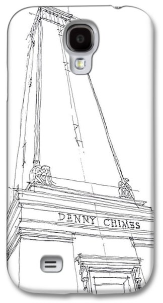 Denny Chimes Galaxy S4 Cases - Denny Chimes Sketch Galaxy S4 Case by Calvin Durham