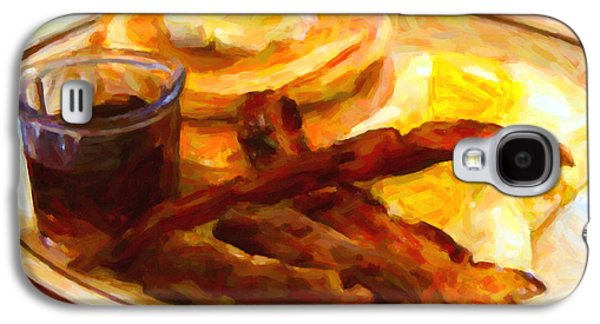 Grandslam Galaxy S4 Cases - Dennys Grand Slam Breakfast - Painterly Galaxy S4 Case by Wingsdomain Art and Photography