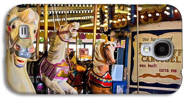 Original Art Photographs Galaxy S4 Cases - Dentzel Looff Antique Carousel  Galaxy S4 Case by Colleen Kammerer