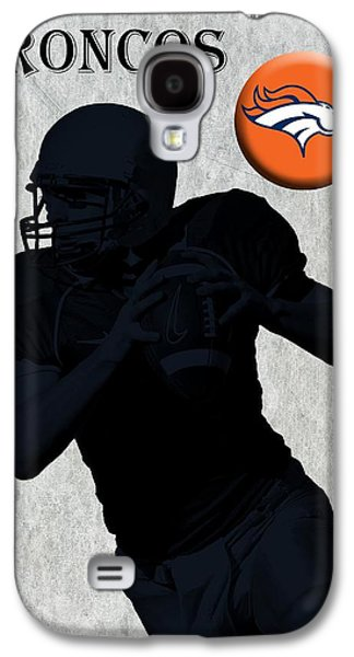 Pro Football Galaxy S4 Cases - Denver Broncos Football Galaxy S4 Case by David Dehner