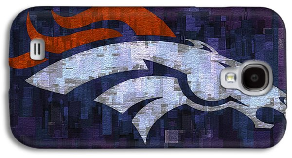 Pro Football Galaxy S4 Cases - Denver Broncos Galaxy S4 Case by Jack Zulli