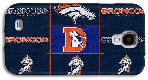 Denver Broncos Uniform Patches Galaxy S4 Case by Joe Hamilton