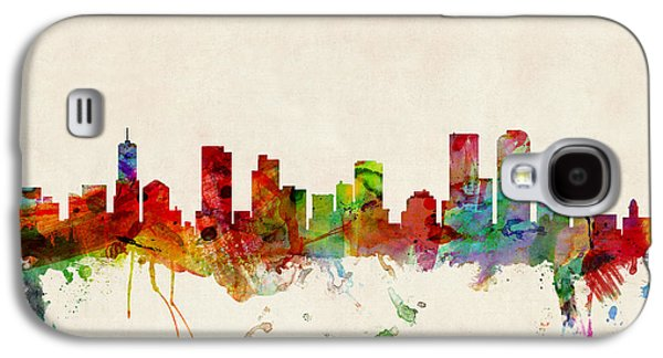 Cityscape Digital Galaxy S4 Cases - Denver Colorado Skyline Galaxy S4 Case by Michael Tompsett