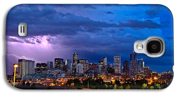 Landscapes Photographs Galaxy S4 Cases - Denver Skyline Galaxy S4 Case by John K Sampson