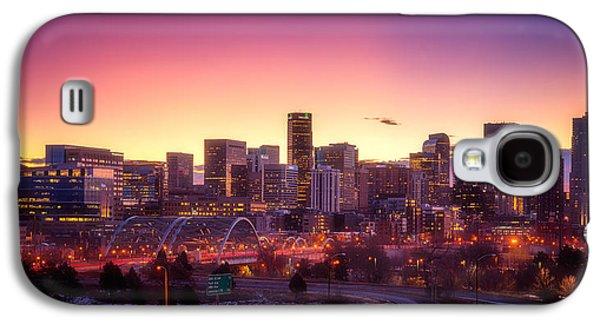 Landscape Acrylic Prints Galaxy S4 Cases - Denver Sunrise Galaxy S4 Case by Darren  White