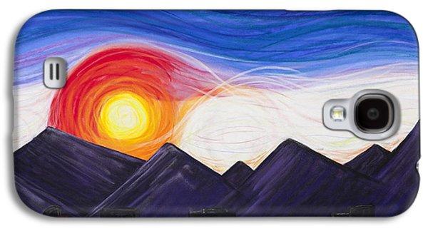 Skylines Pastels Galaxy S4 Cases - Denver Sunset Galaxy S4 Case by Dana Strotheide