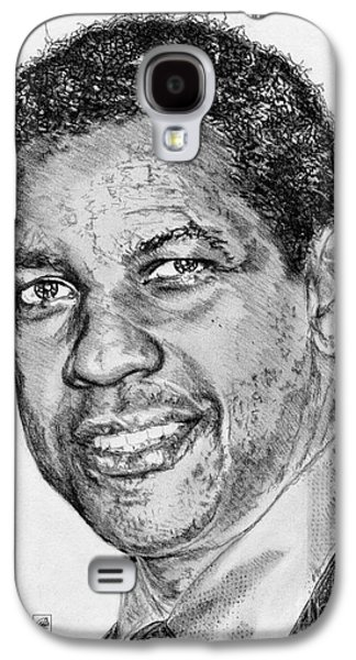 African-american Drawings Galaxy S4 Cases - Denzel Washington in 2009 Galaxy S4 Case by J McCombie