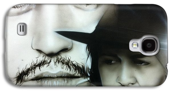 Johnny Depp - ' Depp ' Galaxy S4 Case by Christian Chapman Art