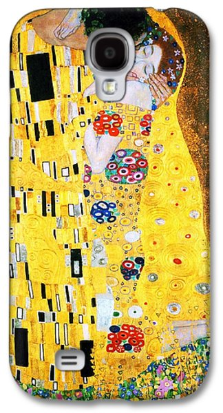 Reproduction Galaxy S4 Cases - Der Kuss or The Kiss by Gustav Klimt Galaxy S4 Case by Pg Reproductions