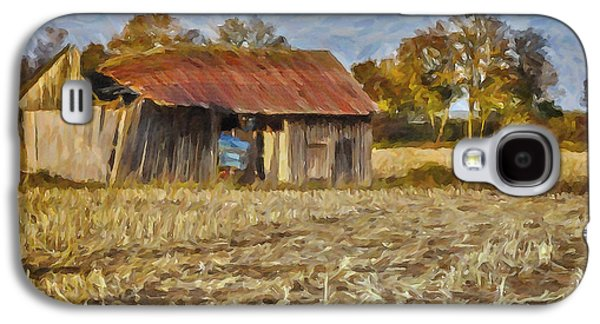 Autumn In The Country Galaxy S4 Cases - Derelict Barn Galaxy S4 Case by Jutta Maria Pusl