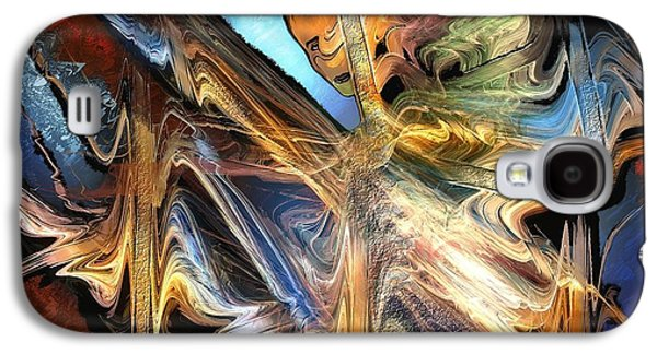 Abstract Digital Paintings Galaxy S4 Cases - Derobade Galaxy S4 Case by Francoise Dugourd-Caput