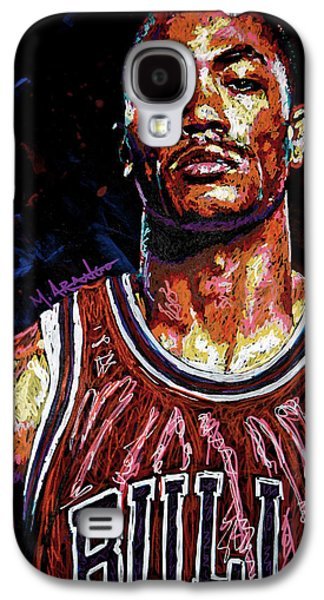 Arango Galaxy S4 Cases - Derrick Rose-2 Galaxy S4 Case by Maria Arango