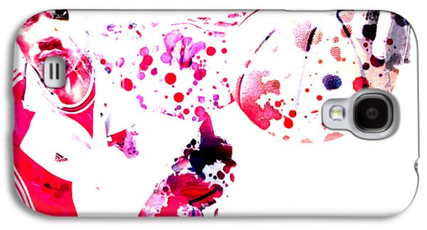 Mj Digital Galaxy S4 Cases - Derrick Rose Galaxy S4 Case by Brian Reaves